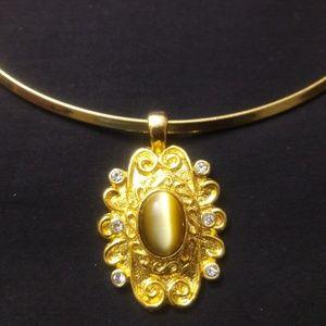 Golden Necklace w/ Cz stones